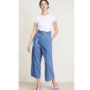 J. Brand Via pleat front hi rise paper bag jeans